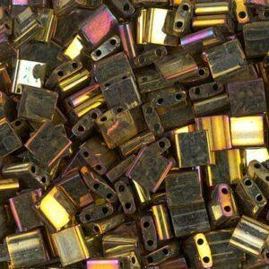 Miyuki Tila Perlen TL-462 metallic gold iris 5g