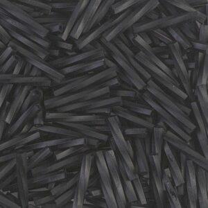 Miyuki gedrehte Stiftperlen TW2012-401F matte black 5g