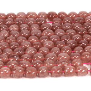 Ruby quartz nuggets red approx. 12x16mm, 1 strand
