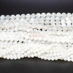 Boule pierre de lune de qualité A blanche 4-10 mm, 1 fil