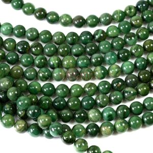Xibei jade ball glossy green shades 8 mm, 1 strand