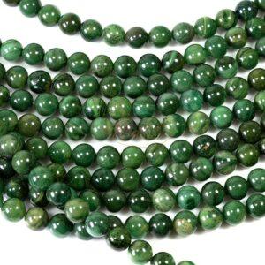 Xibei Jade Kugel glanz Grüntöne 8 mm, 1 Strang