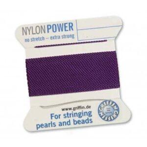 Fil de soie Cartes Nylon Power améthyste 2m (0,70 € / m)