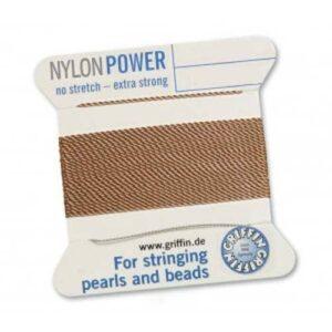 Fil de soie Cartes Nylon Power beige 2m (0,70 € / m)