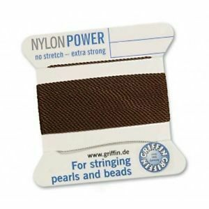 Pearl silk nylon power brown cards 2m (€ 0.70 / m)