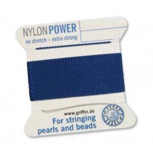Fil de soie Cartes Nylon Power bleu foncé 2m (0,70 € / m)