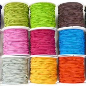 Nylon elastisch textil Farbauswahl • 1 mm • 21 Meter (0,17€/m)