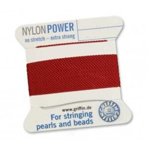 Fil de soie nylon power Cartes rouge grenat 2m (0,70 € / m)