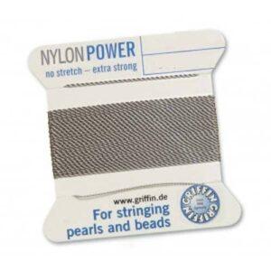 Fil de soie Cartes Nylon Power gris 2m (0,70 € / m)