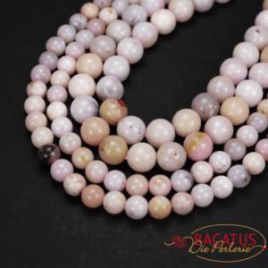 Opal Kugel glanz zart rosa 4 – 8 mm, 1 Strang