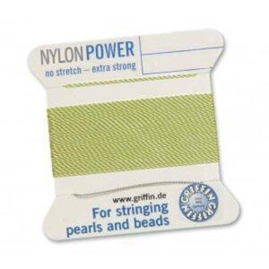 Fil de soie Cartes Nylon Power vertes jade 2m (0,70 € / m)