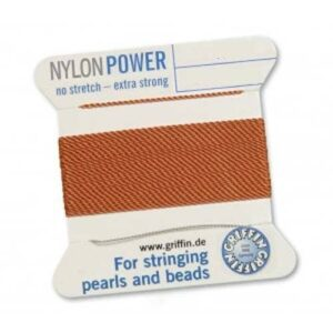 Pearl silk nylon power carnelian cards 2m (€ 0.70 / m)