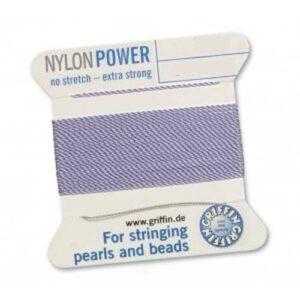Pearl silk nylon power lilac cards 2m (€ 0.70 / m)