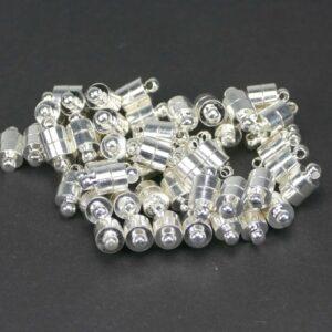 Magnetverschluss Zylinder silber 6×11 mm