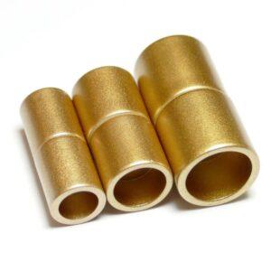 Magnetverschluss Zylinder Kunststoff gold matt