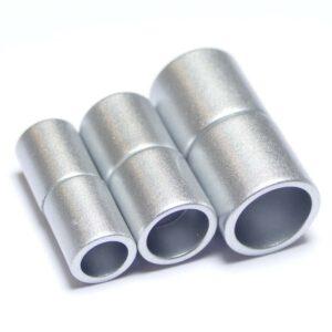 Magnetverschluss Zylinder Kunststoff silber matt