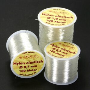 Nylon elastisch • transparent • 1mm • 1 Rolle