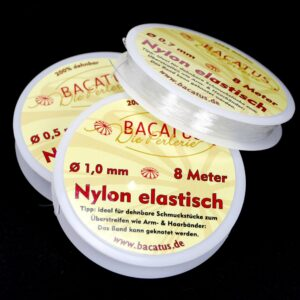 Nylon elastic • transparent • 0.7mm • 1 roll