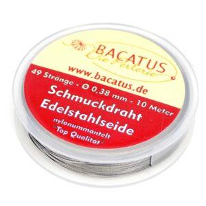 (0,99€/m) Schmuckdraht Edelstahlseide economy 49 Stränge