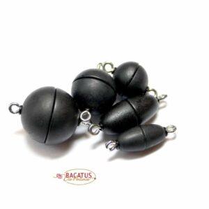 Magnetic clasp plastic black matt * top quality *
