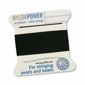 Pearl silk nylon power black cards 2m (€ 0.70 / m)