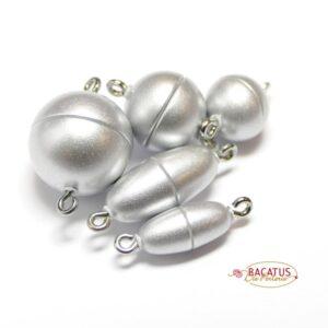 Magnetverschluss Kunststoff silber matt *Top Qualität*