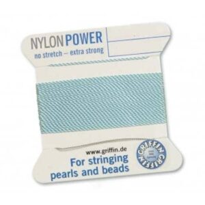 Perlseide Nylon Power türkis Kärtchen 2m (0,70€/m)