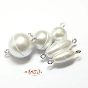 Magnetverschluss Kunststoff weiß matt *Top Qualität*