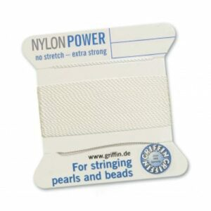 Pearl silk nylon power white cards 2m (€ 0.70 / m)