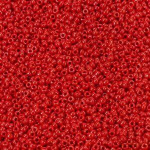Miyuki Rocailles 11-426 rosso opaco lucido 9,9 g
