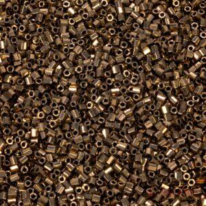 Miyuki Rocailles Hexagon Cut 11C-457 metallic dark bronze 5g