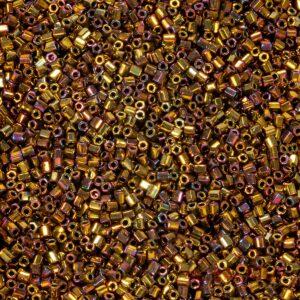 Miyuki Rocailles Hexagon Cut 11C-462 oro metallizzato iris 5g