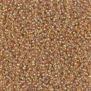 Miyuki Rocailles 15-1004 silverlined dark gold AB 5g