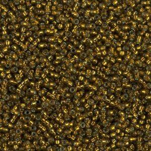 Miyuki Rocailles 15-1421 olive dorée teinte argentée (type DB 604) 5g