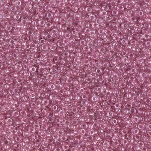 Miyuki Rocailles 15-1524 sparkle peony pink lined crystal (wie DB 902) 5g