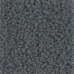 Miyuki Rocailles 15-152F gris transparent mat 5g