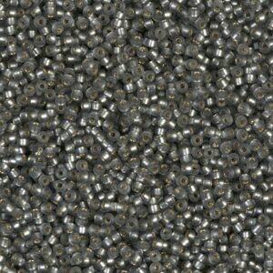 Miyuki Rocailles 15-21F matte silverlined gray 5g