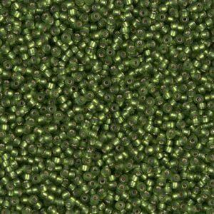 Miyuki Rocailles 15-26F olive matte argentée 5g