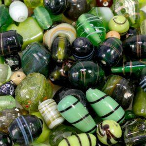 Glasperlen Mix grün *Sonderposten* 290g