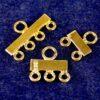 Distributore terminali multifilare in argento 925 * placcato oro * - 2 righe
