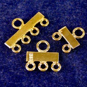 Endteile Verteiler mehrreihig 925 Silber *vergoldet*
