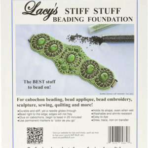 Lacy´s Stiff Stuff weiß Untergrund für Embroidery 10,5×13,5 mm
