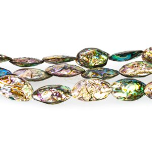 Abalone nuggets approx. 14 x 28 mm, 1 strand