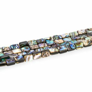 Abalone cuboid approx. 6 x 8 mm, 1 strand