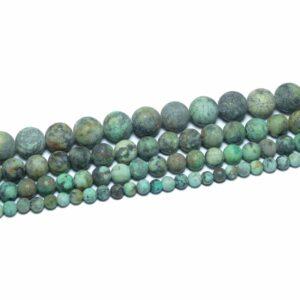 Afrikanischer Türkis matt 4 – 12 mm, 1 Strang