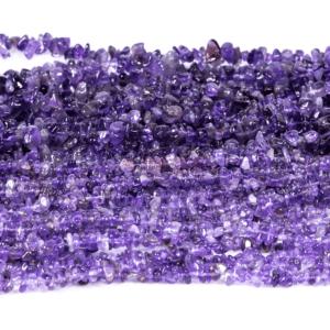 Schegge di ametista viola brillante 3 x 5 & 5 x 8 mm, 1 capo