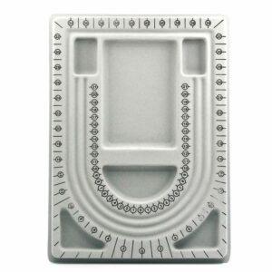 Perlsortierbrett Perlenbrett 3 Stränge klein 33 x 24 cm
