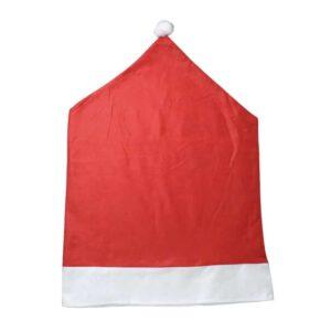 Husse Stuhlhusse Mütze vom Weihnachtsmann 70x49cm