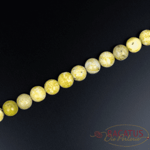 Turquoise ball glossy yellow approx. 4-10mm, 1 strand