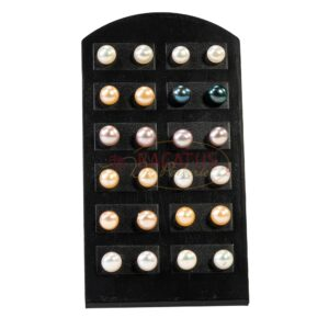 Stud earrings freshwater pearl mix, 12 pairs with display